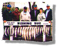 Fishing Bug Charter - Charter Fishng for Salmon and Trout off Racine, Wisconsin